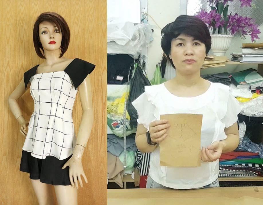 Cách thiết kế Quần Short Váy (Chữ A) Phần 3 thời trang thủy 4