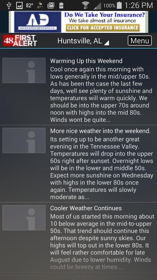 WAFF 48 Storm Team Weather- screenshot