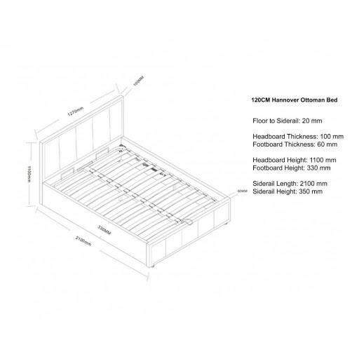Birlea Hannover Ottoman Bed Frame Grey