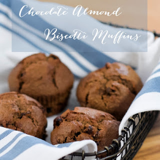 Better For You Chocolate Almond Biscotti Breakfast Muffins