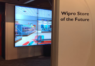 """Photo: I did a lot of """"air"""" shopping at the conference. Here, at Wipro's 4D grocery store of the future."""