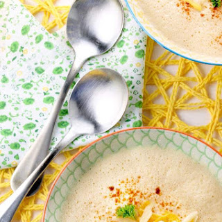 Easy Roasted Cauliflower Blender Soup With Smoked Paprika.