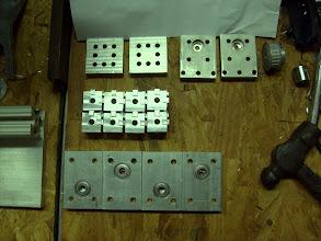 Photo: Corner cube brackets, bearing carriers...