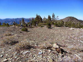 Photo: View northwest from the summit of Dawson Peak toward Pine Mt. as the group from OC Hiking Club leaves