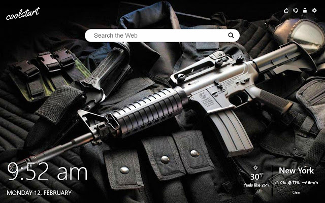 Guns HD Wallpapers Weapons New Tab Theme