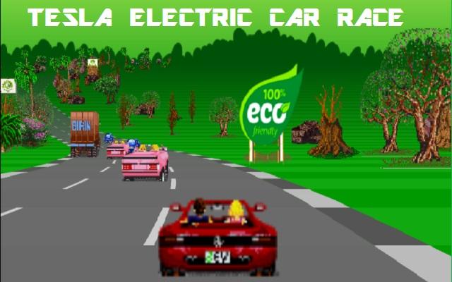 Tesla Electric Vehicle Cars Race