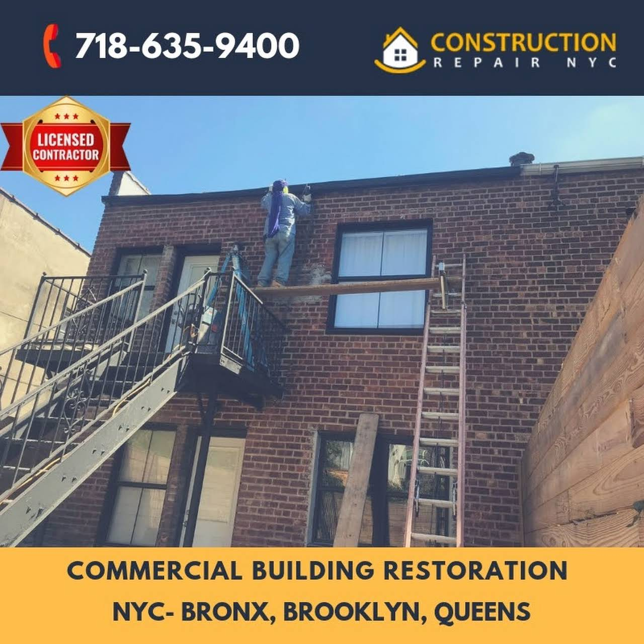 Construction Repair NYC - Masonry & Waterproofing