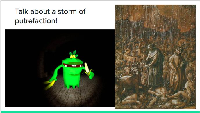 Luigi's Mansion Dante's Inferno - talk about a storm of putrefaction