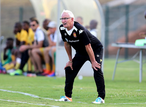 Gordon Igesund during the Absa Premiership match between Golden Arrows and Highlands Park at Princess Magogo Stadium on April 01, 2017 in Durban, South Africa.
