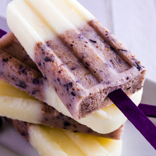 Vanilla Berry Coconut Popsicles.