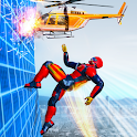 Flying Robot Rope Speed Hero - Rescue Mission icon
