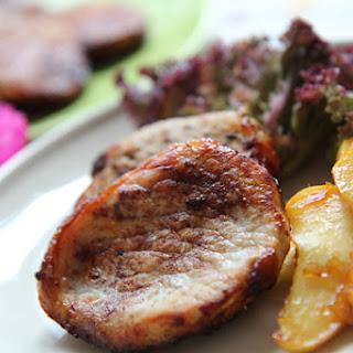 Chicken Steak With Apples.