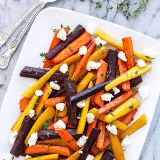 Honey Roasted Carrots with Goat Cheese and Thyme