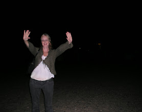 Photo: That's me, on the beach in the night. Warnemünde.