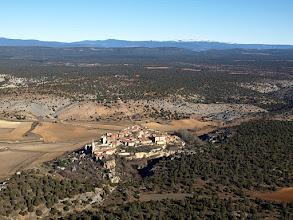 Photo: Calatañazor y los picos del Urbión al fondo.