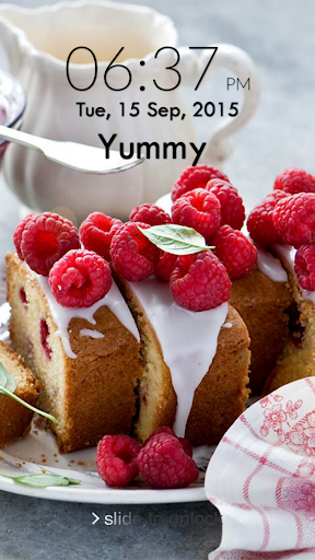 Yummy Food Keypad Lock Screen