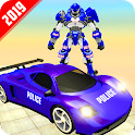 Grand Police Car Robot Transform Rescue Battle icon