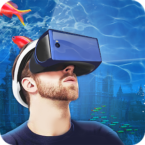 Helmet VR Underwater City 3D