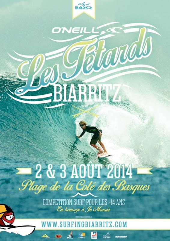 On the contest poster for the Les Tétards contest in Biarritz (France)