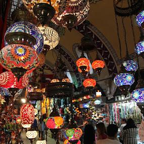 Let there be light by Marc Madou - City,  Street & Park  Markets & Shops ( lights, market, turkey )