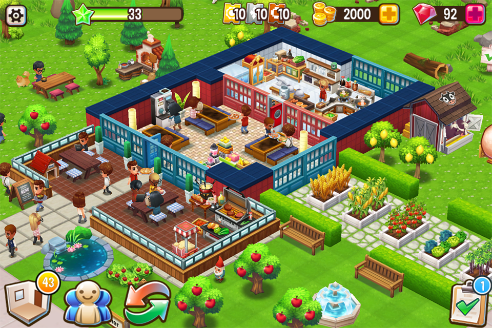 Food street restaurant management game android