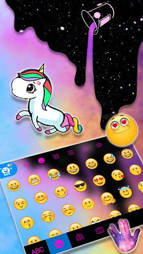 Galaxy Color Drip Keyboard Theme screenshots 3