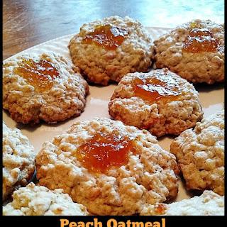 Easy Peach Oatmeal Thumbprint Cookies