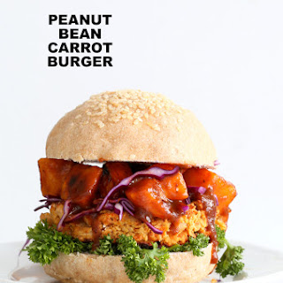 Peanut Carrot White Bean Burgers.