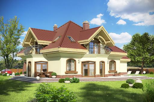 projekt Dzierlatka III z garażem 2-st. A