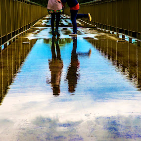 Feminine reflections by FIWAT Photography - People Street & Candids ( water reflection, bridge )