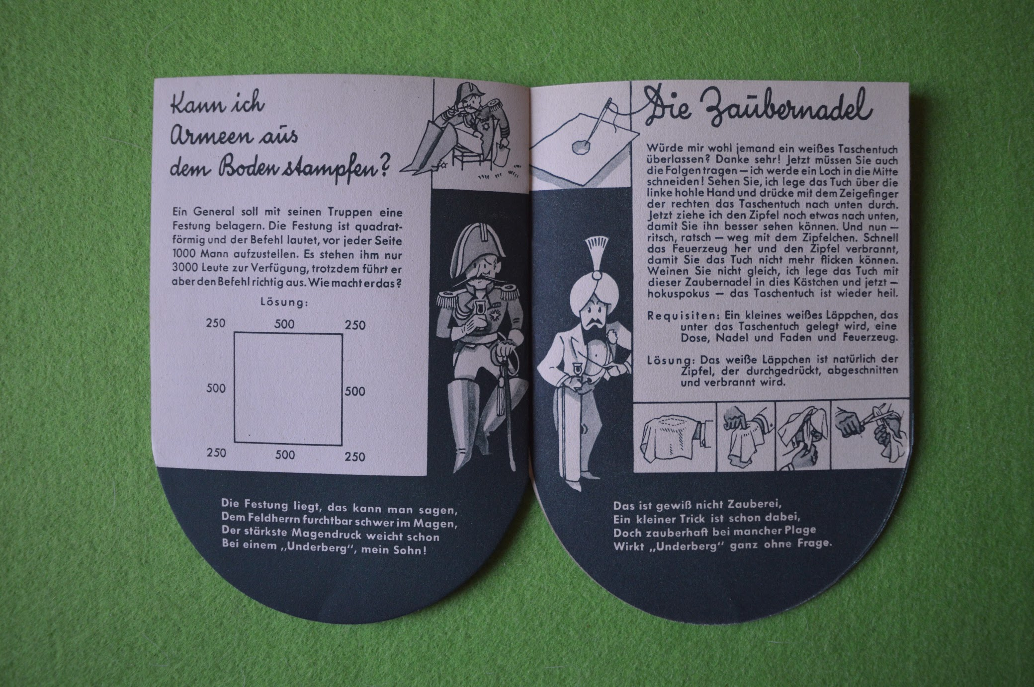 Underberg Werbeprospekt 1936