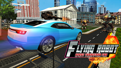 Flying Robot Horse Transform Car for PC