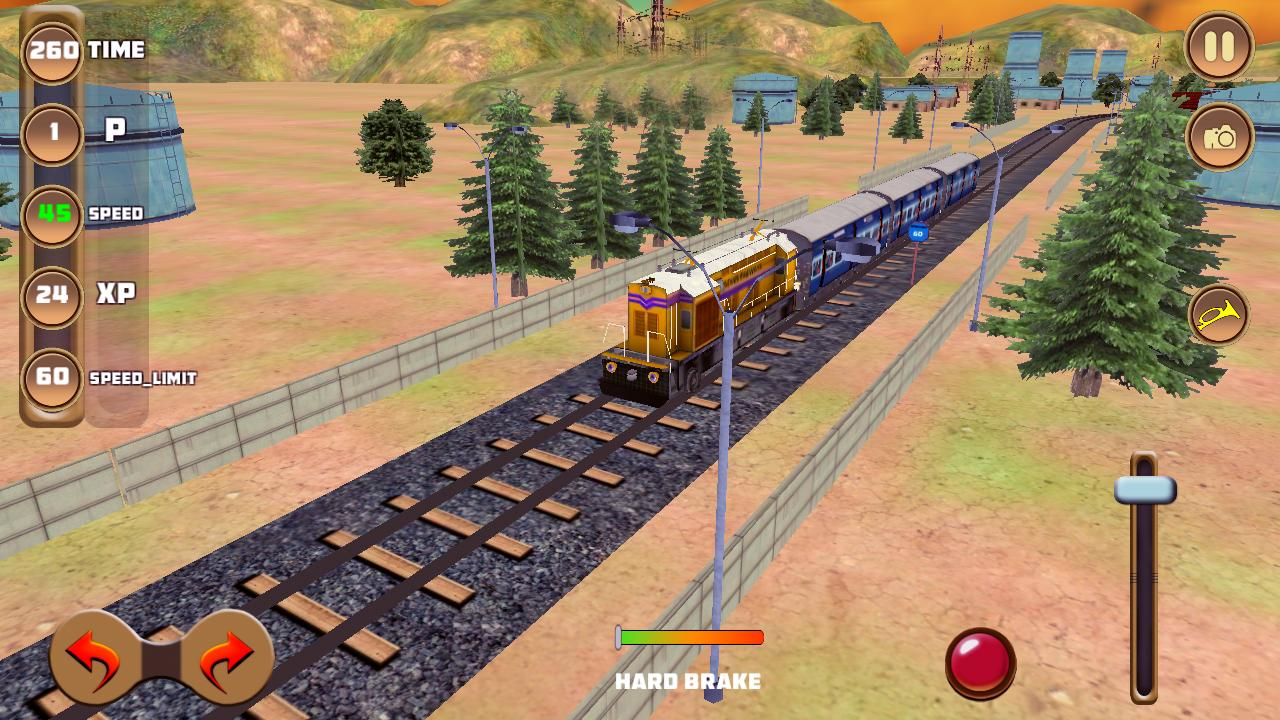 Indian rajdhani train sim screenshot