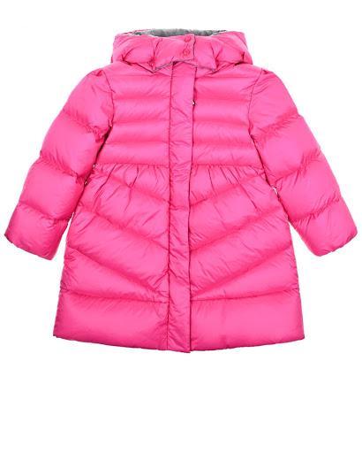 Базовое пуховое пальто цвета фуксии детское Moncler 4995505 53048 530 купить