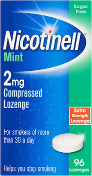 Nicotinell Compressed Lozenge - Mint, 2mg, 96 Lozenges