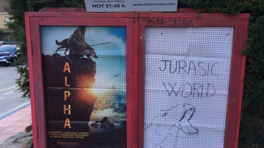 El póster murciano de 'Jurassic World' que 'emocionó' a Bayona