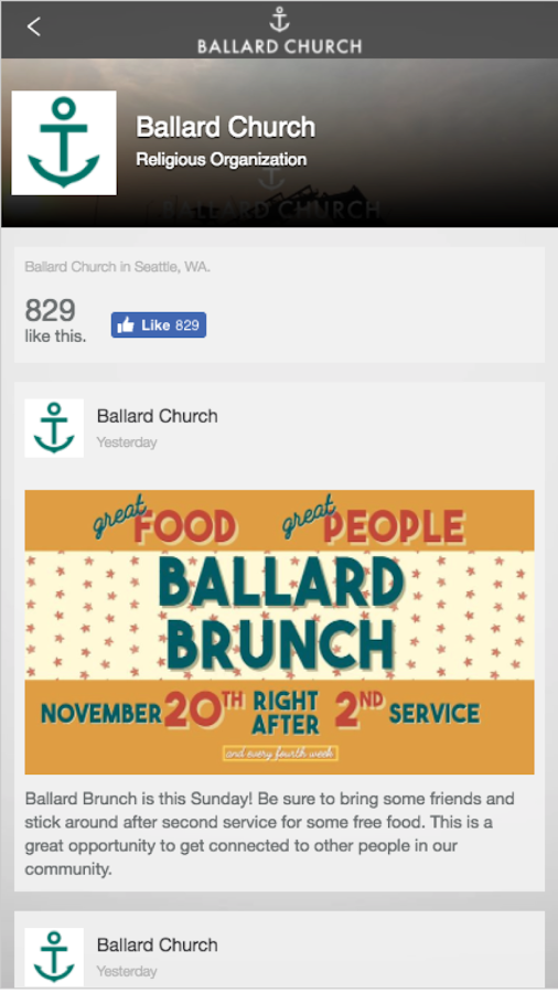 Ballard Church- screenshot