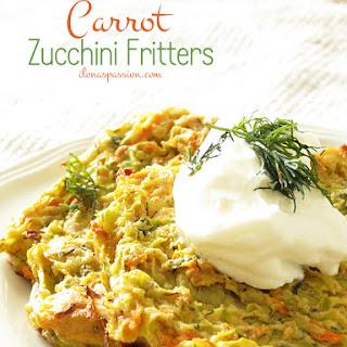 Carrot Zucchini Fritters.