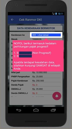 Cek Ranmor & Pajak DKI Jakarta  screenshots 4