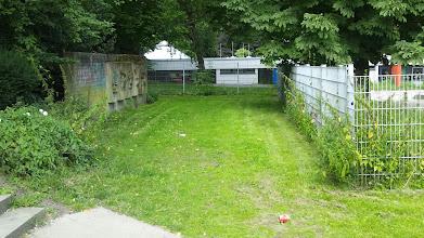 Photo: Gelände hinter der Villa Altenloh (Kindergärten an Berg- und Konkordiastraße) - hier: ehemalige Strecke der Volmet(h)albahn.