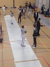 Photo: Dirk Jan en Quinton coachen, Georges kijkt toe hoe ze het doen.