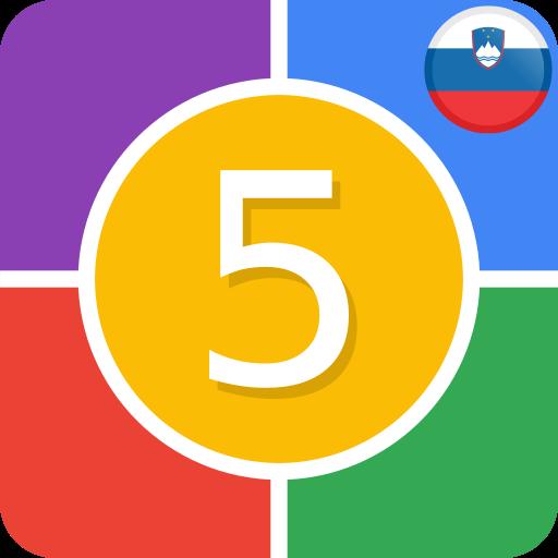 Android aplikacija Ugani 5 - Kviz Slovenija