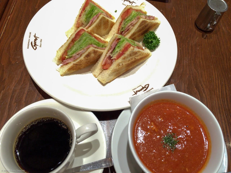 ベーコン・レタス_トマトのサンドイッチのセット