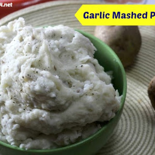 Homemade Garlic Mashed Potatoes.