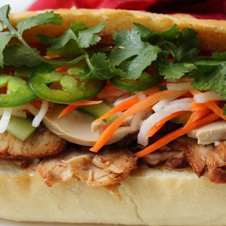Roasted Pork Banh Mi (Vietnamese Sandwich)