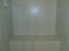 Photo: tiled shower seat shower surround