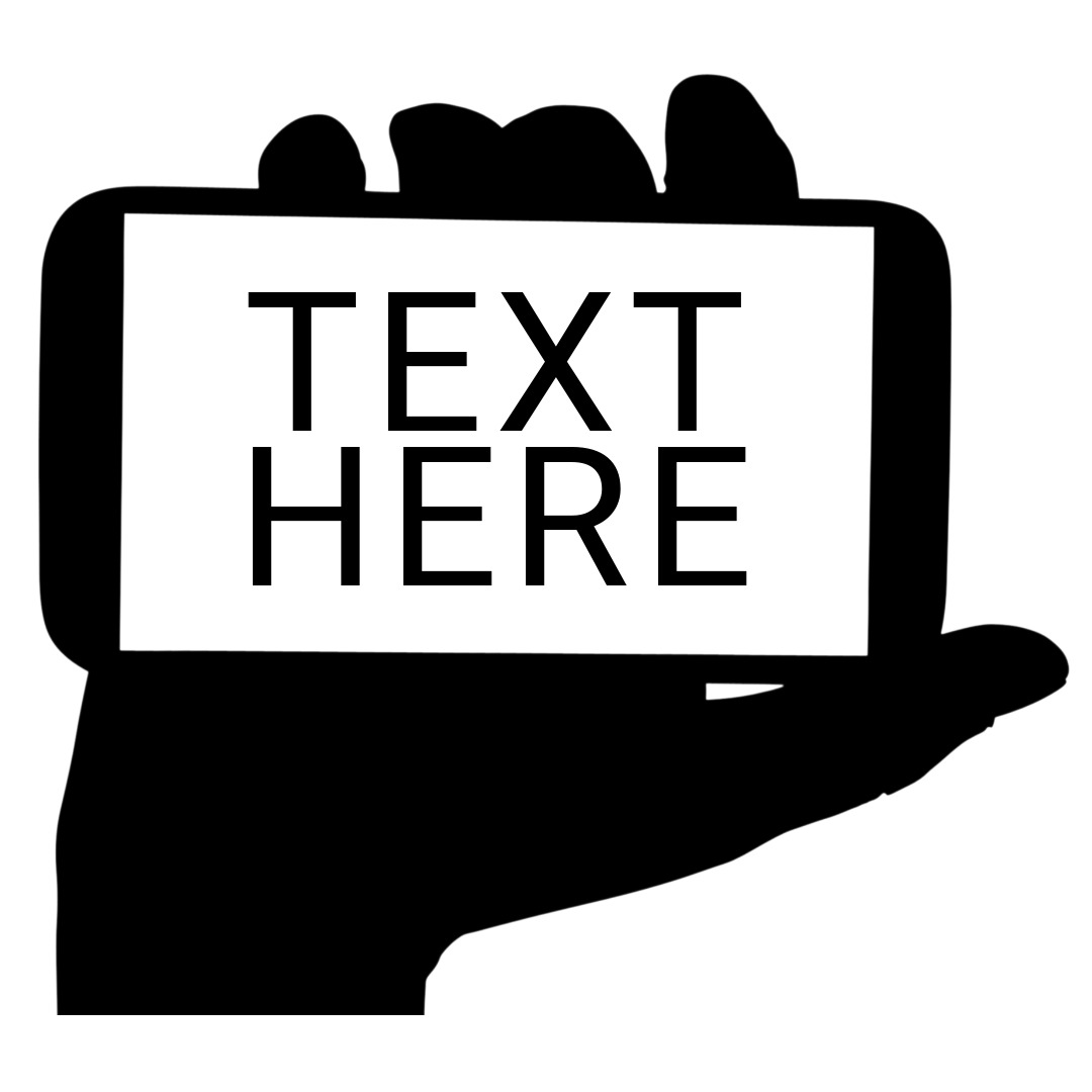 phone logo hand