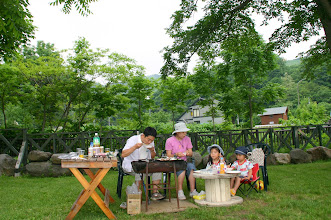 Photo: 日帰りデイキャンプ。BBQ台、ジンギスカンセットもこちらでご用意できます。