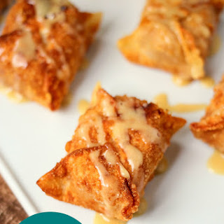 Pumpkin Cream Cheese Wontons with Maple Glaze