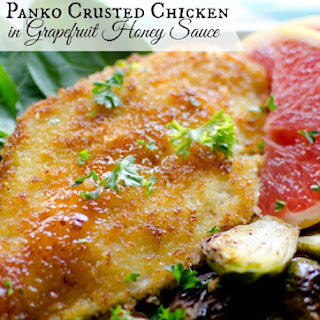 Panko Chicken with Grapefruit-Honey Sauce